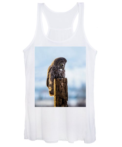 Eye On The Prize - Great Gray Owl Women's Tank Top