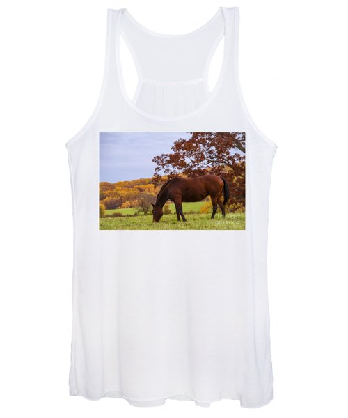 Fall And A Horse Women's Tank Top
