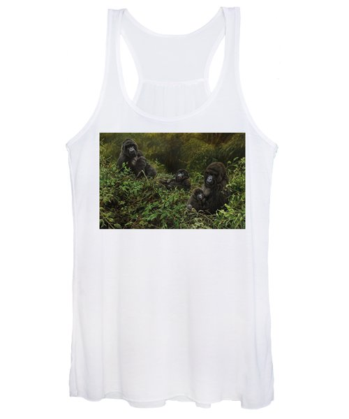 Family Of Gorillas Women's Tank Top