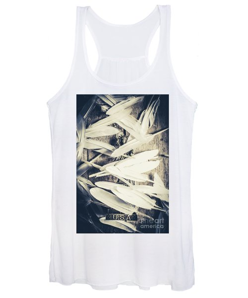 Feathers Of Freedom And The Statue Of Liberty Women's Tank Top