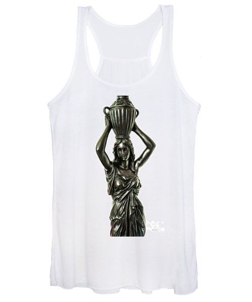 Female Water Goddess Bronze Statue 3288a Women's Tank Top