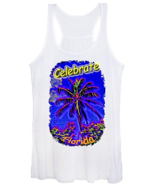 Festive Palm Women's Tank Top