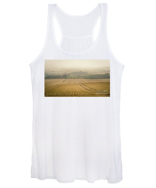 Women's Tank Top featuring the photograph Fields Of Gold by Perry Rodriguez