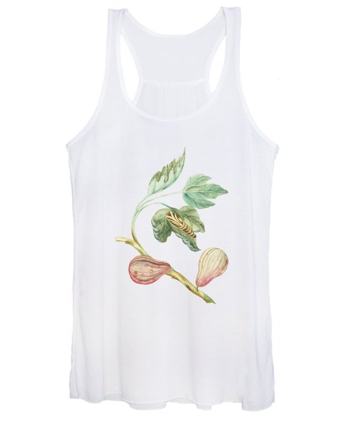 Fig Tree Branch With Caterpillar By Cornelis Markee 1763 Women's Tank Top