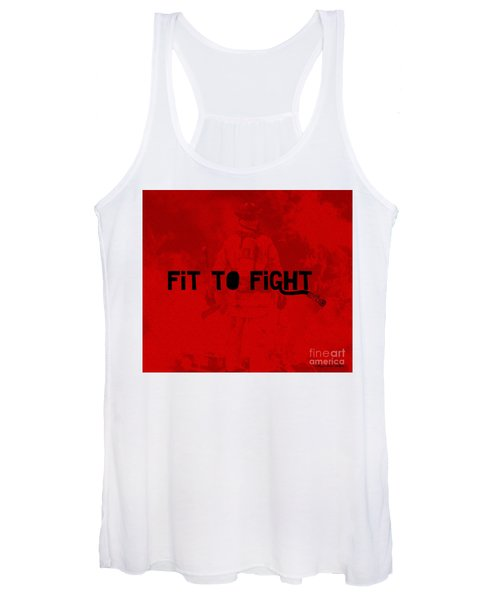 Fireman In Red Women's Tank Top