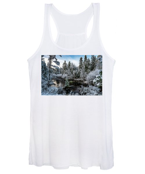 First Snow On Grand Marais Creek Women's Tank Top