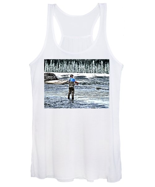 Fisherman On The River Women's Tank Top