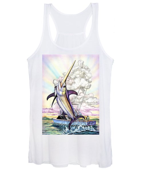 Fishing Swordfish Women's Tank Top