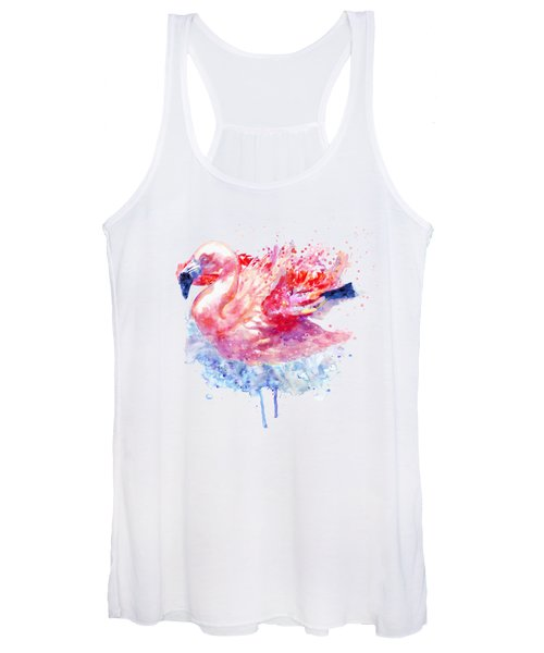 Flamingo On The Water Women's Tank Top