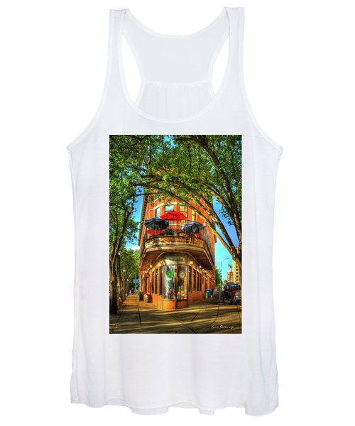 Flatiron Style Pickle Barrel Building Chattanooga Tennessee Women's Tank Top