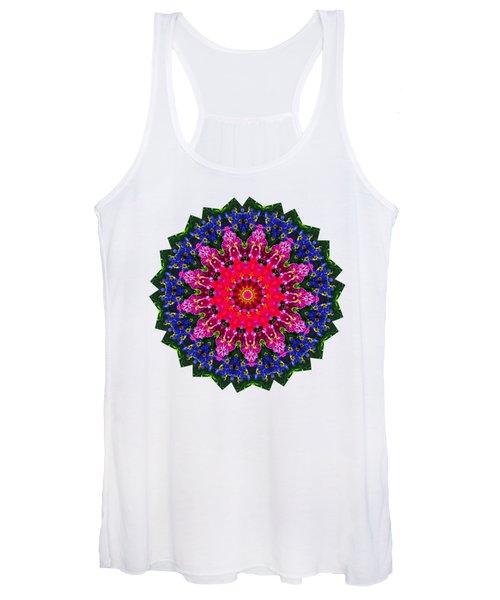 Floral Kaleidoscope By Kaye Menner Women's Tank Top