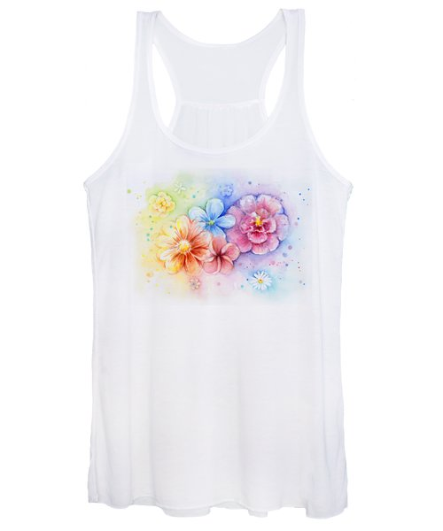 Flower Power Watercolor Women's Tank Top