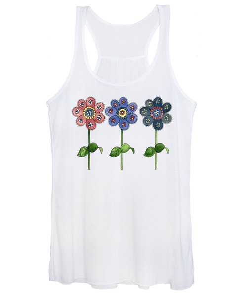 Flower Row Women's Tank Top