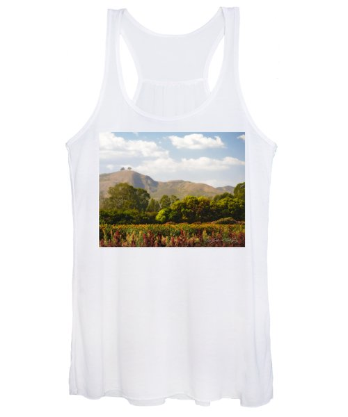 Flowers And Two Trees Women's Tank Top