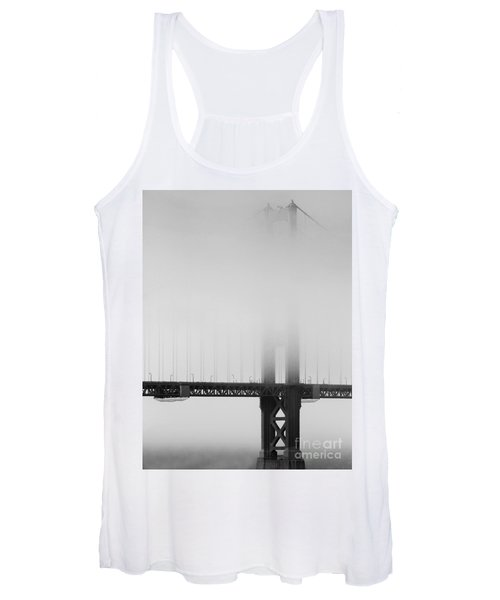 Fog At The Golden Gate Bridge 4 - Black And White Women's Tank Top
