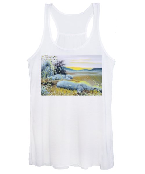 Foggy Dawn Through Window Women's Tank Top
