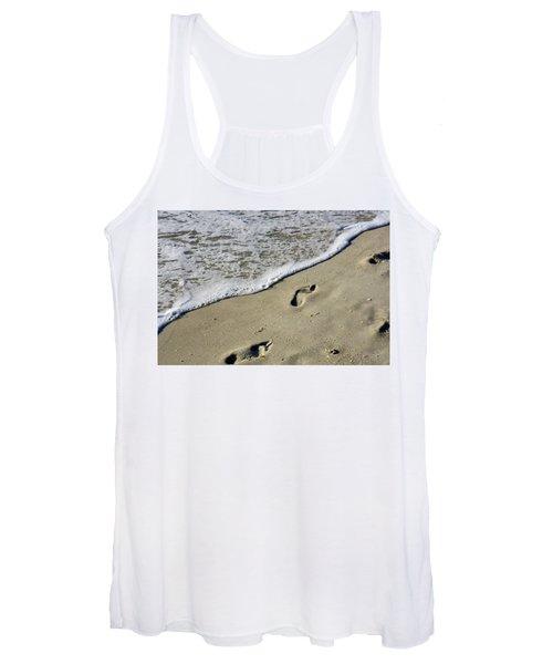 Footprints On The Beach Women's Tank Top