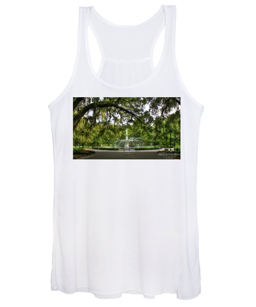 Forsyth Park Fountain Historic Savannah Georgia Women's Tank Top