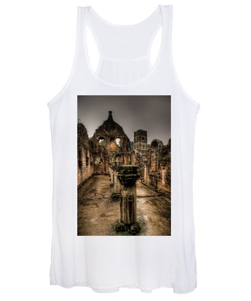 Fountains Abbey In Pouring Rain Women's Tank Top