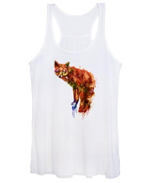 Foxy Lady Watercolor Women's Tank Top