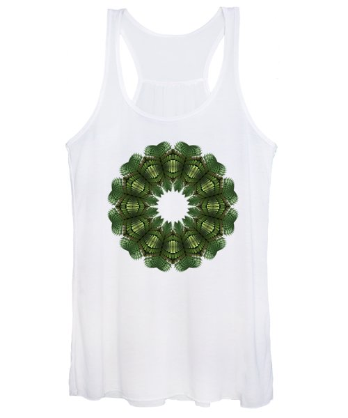 Fractal Wreath-32 Spring Green T-shirt Women's Tank Top