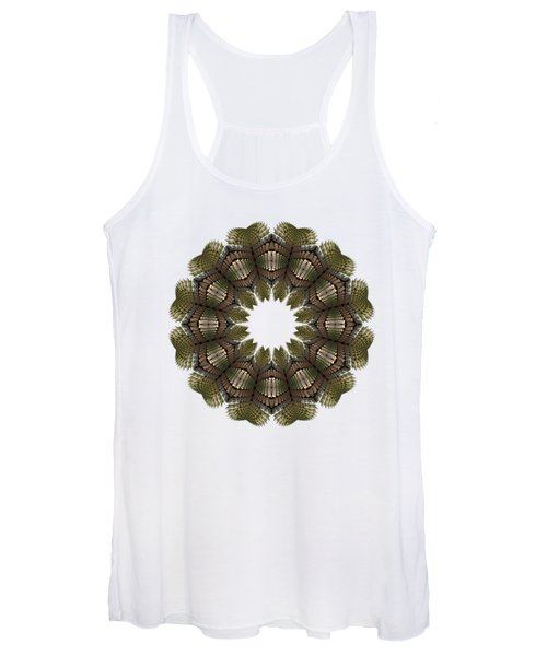 Fractal Wreath-32 Earth T-shirt Women's Tank Top