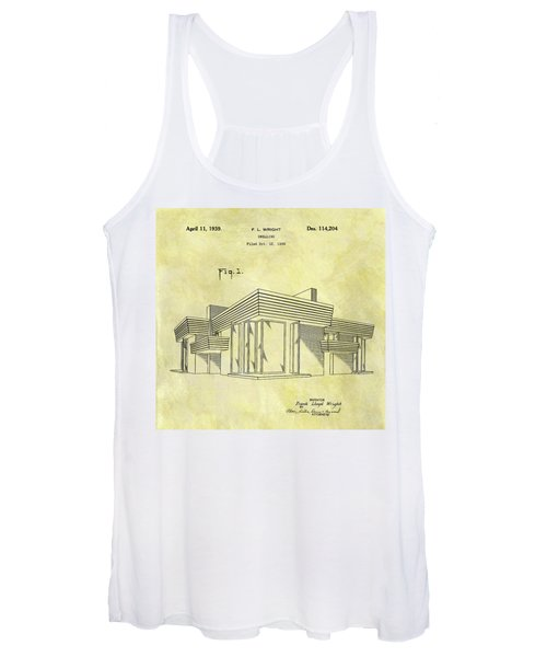 Frank Lloyd Wright House Patent Women's Tank Top