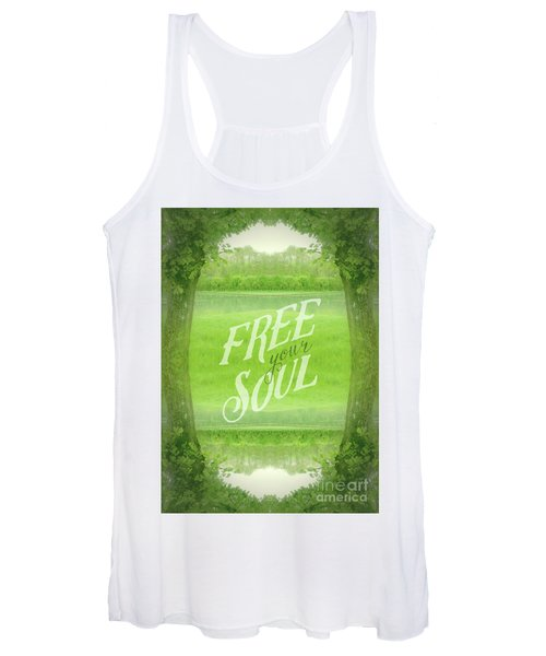 Free Your Soul Grand Canal Forest Fontainebleau Chateau Women's Tank Top
