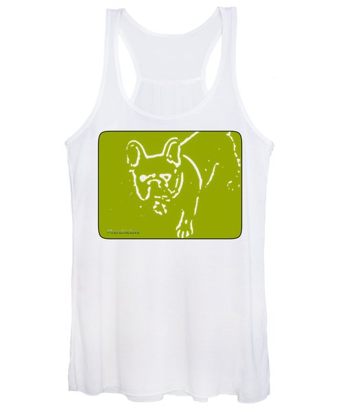 Frenchielove Design Chartreuse Women's Tank Top