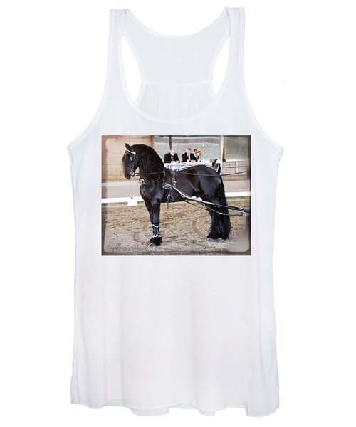 Friesian Stallion Under Harness Women's Tank Top
