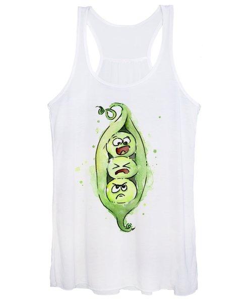 Funny Peas In A Pod Women's Tank Top
