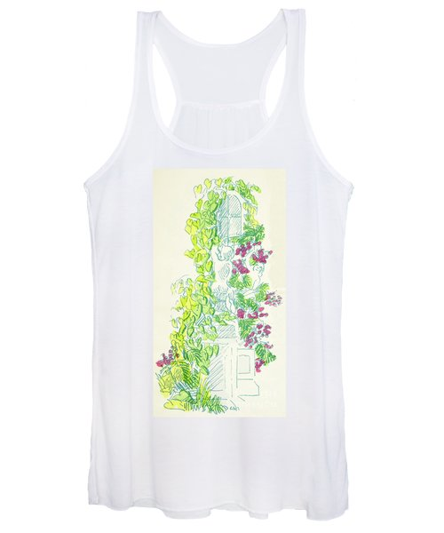 Garden Scene With Statue Women's Tank Top