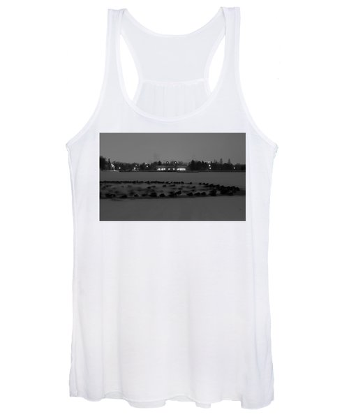 Geese In Frozen Lake Women's Tank Top