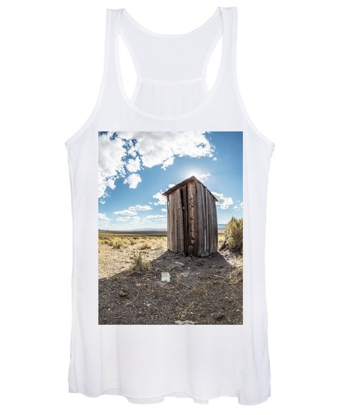Ghost Town Outhouse Women's Tank Top