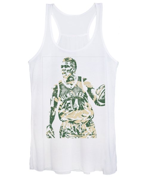 Giannis Antetokounmpo Milwaukee Bucks Pixel Art 23 Women's Tank Top