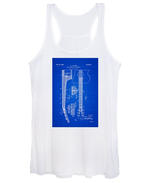 Gibson Guitar Patent 1923 Blue Print Women's Tank Top