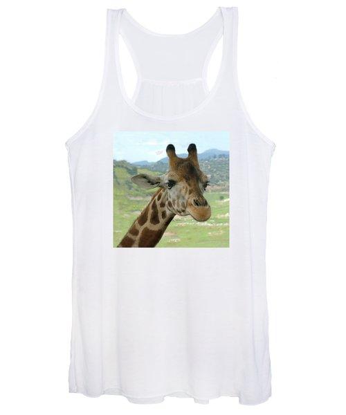 Giraffe Portrait Women's Tank Top
