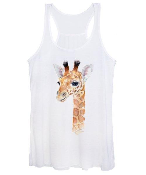 Giraffe Watercolor Women's Tank Top