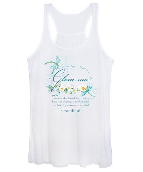 Glam-ma Grandma Grandmother For Glamorous Grannies Women's Tank Top