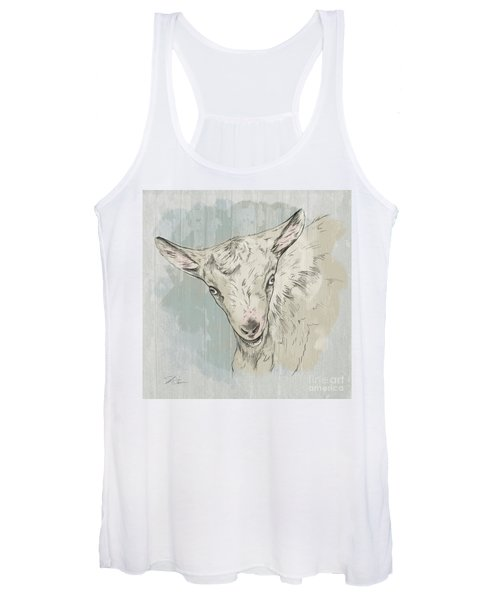 Goat Portrait-farm Animals Women's Tank Top