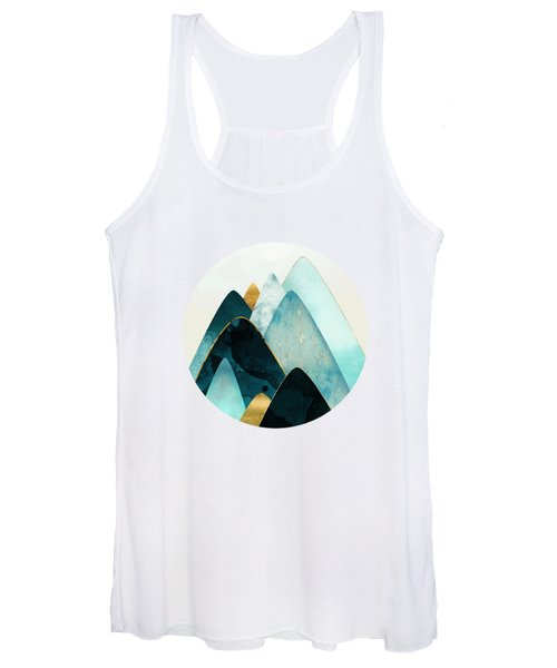 Gold And Blue Hills Women's Tank Top
