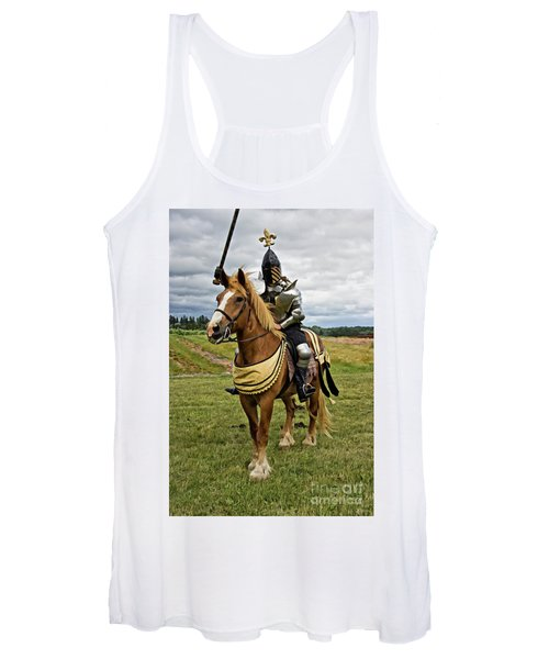 Gold And Silver Knight Women's Tank Top