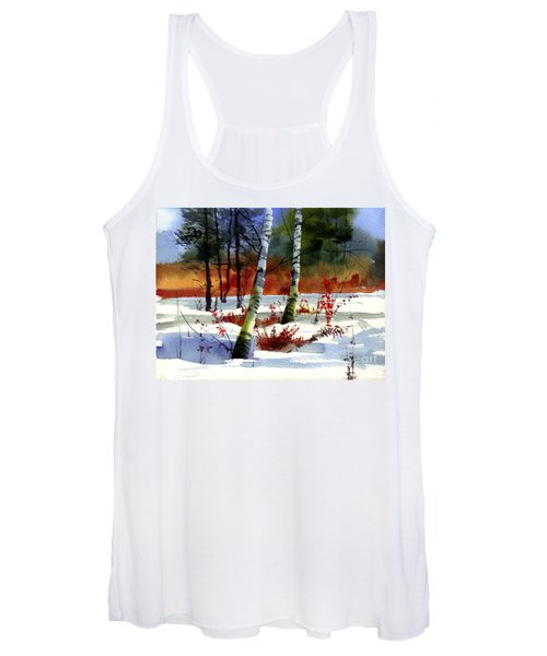 Gold Bushes Watercolor Women's Tank Top