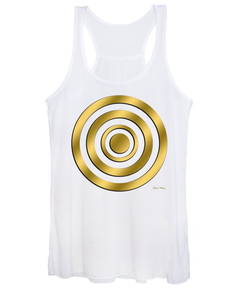 Gold Circles Women's Tank Top