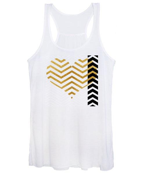 Gold Heart Women's Tank Top