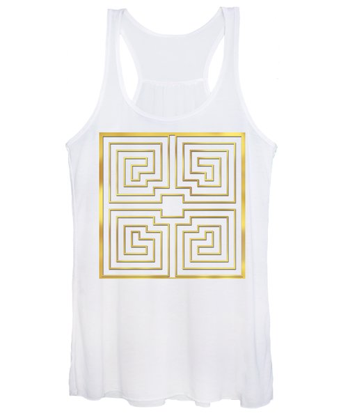 Gold Stripes Transparent Women's Tank Top