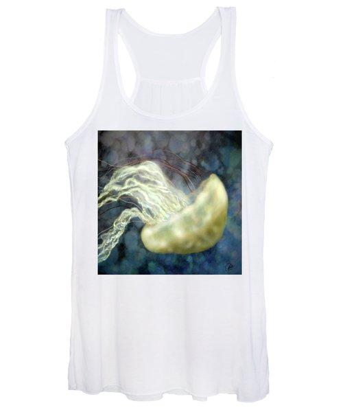 Golden Light Jellyfish Women's Tank Top
