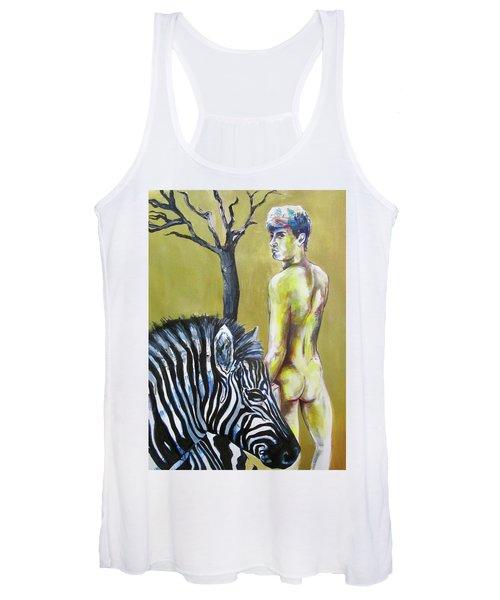 Golden Zebra High Noon Women's Tank Top