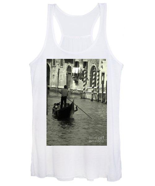 Gondolier In Venice   Women's Tank Top