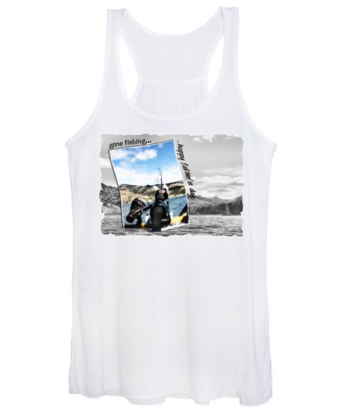 Gone Fishing Father's Day Card Women's Tank Top